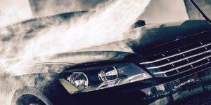 Washing black car