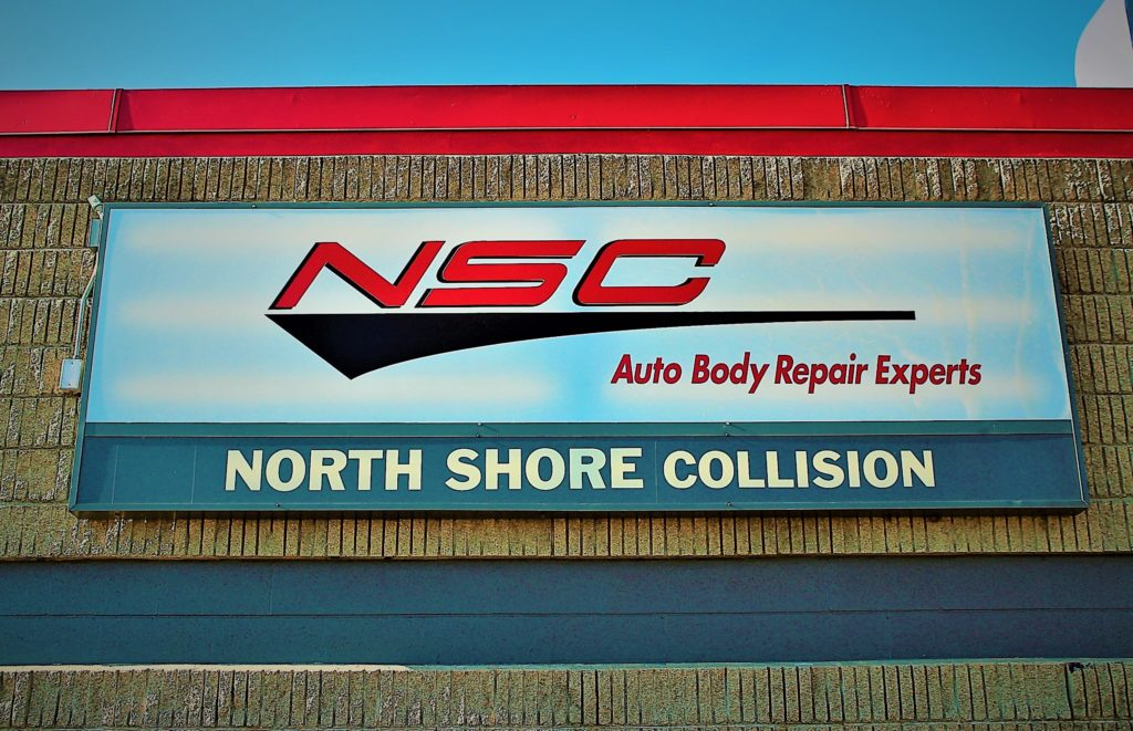 NSC Auto Body Repair Experts North Shore Collision sign